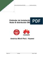 Estandar de Instalacion DBS3800 Huawei