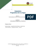 Modulo 1 Leccion 1 Antecedentes Linguisticos y Filosoficos