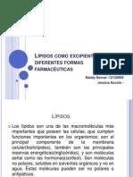 Lípidos como excipiente en diferentes formas farmacéuticas.pptx