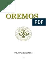 Watchman Nee Oremos