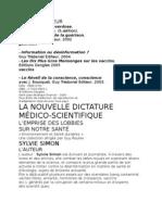 La nouvelle dictature médico-scientique, Sylvie Simon