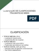 Compendio de Clasificaciones Traumaticas Mmss