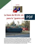 """La base de EE.UU. en Concón para la """"guerra urbana""""- (NOTAS)"""