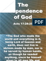 The Independence of God