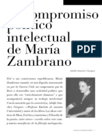 Adolfo Sánchez Vázquez - El compromiso político intelectual de María Zambrano
