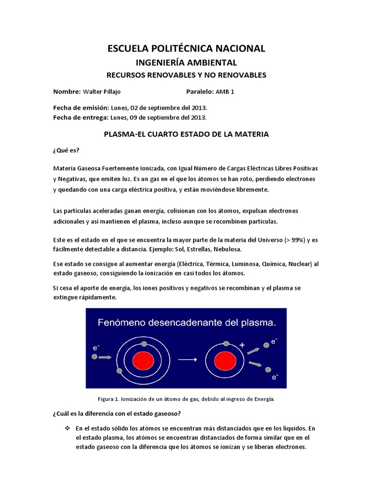 Plasma- El Cuarto Estado de La Materia | Plasma (Física ...