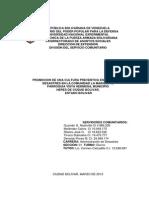 Promocion de Una Cultura Preventiva en Materia de Desastres en El Sector La Mariquita de Ciudad Bolivar