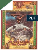 Dr York - Did God Create the Devil