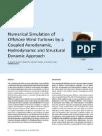 Simulación de aerogeneradores marinos por una aerodinámica, hidrodinámica enfoque dinámico y estructural acoplado