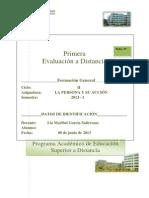 Primera Evaluacion La Persona y Su Accion 2013-I