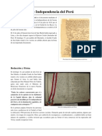 Declaración de Independencia del Perú