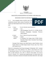 Putusan MK tentang Sengketa Pemilukada Jatim 2013