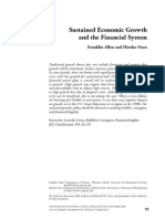 Sustained Economic Growth and the Financial System