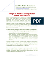 Program Pelatihan Pengobatan Herbal Bersertifikat