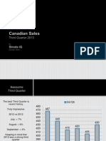 Canadian Sales Third Quarter 2013