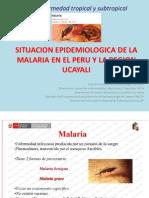 Situacion Epidemiologica de La Malaria en La Region