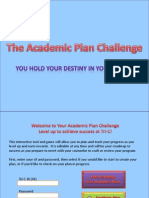 Academic Plan Challenge