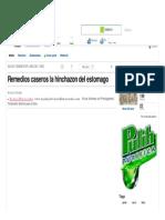 Remedios Caseros La Hinchazon Del Estomago - Taringa!
