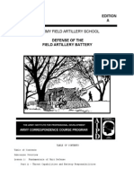 1992 Us Army Defense of the Field Artillery Battery 87p