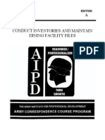 1992 Us Army Conduct Inventories & Maintain Dining Facilities 42p