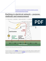 Earthing in electrical network – purpose, methods and measurement