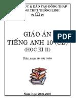 Giao an Tieng Anh 10 - Ban Co Ban - Phan Tu Chon - HKII