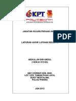 Contoh laporan latihan industri