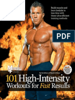 101 High Intensity Workouts for Fast Results (101 Workouts) by Muscle & Fitness -Mantesh1