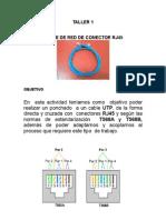 Informe Para Cable de Red Con Conector RJ45