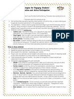 Strategies for Attention and Participation