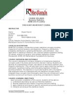Business Statistics Syllabus 8-Wk