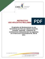 INSTRUCTIVO RECLAMACIONES 09102013