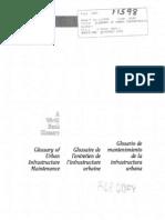 Glosario de Mantenimiento de Infraestructura Urbana