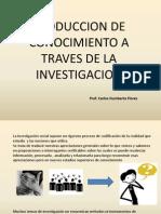 Produccion de Conocimiento a Traves de La Investigacion Cap 2