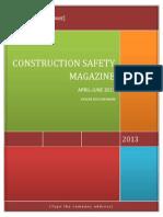 Construction Safety Magazine Apr-june 2013
