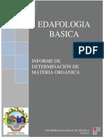 Informe 13 Determinacion de Materia Organica