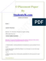 Wipro sample paper with answers.