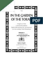 Rabbi Menachem Mendel Schneersohn - In the Garden of the Torah Volume 1