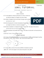 10th Circle Test Paper
