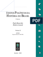 Textos Políticos da História do Brasil - Vol. 2 - Império - Segundo Reinado (1840-1889)