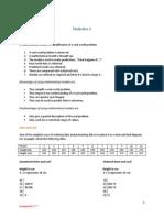 Statistics 1 - Notes
