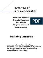 The Importance of Attitudes in Leadership - Teacher Student Copy