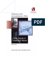 Diploma and Accreditation Mills New Trends in Credential Abuse 2011