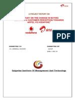 A Study on the Change in Buying Behavior & Customer Perception Towards Airtel vs Vodafone
