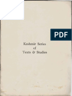 Kashmir Series of Texts and Studies - University of Kashmir