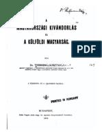 Thirring Gusztáv - A magyarországi kivándorlás és a külföldi magyarság 1904.