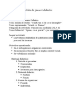 Schita de Proiect Didactic ALA1