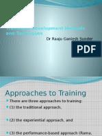 Training Development Methods and Techniques