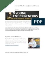 9 Young Entrepreneurs