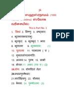 Vishnu Sahasranamam Namavalli